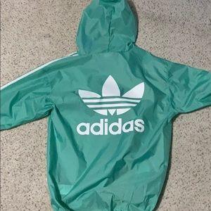 Adidas Jade/light green Poncho/windbreaker (new)